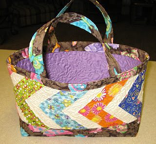 Quilted basket for a doll