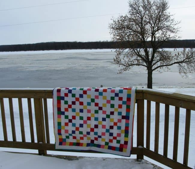 Snow Quilts Along the River