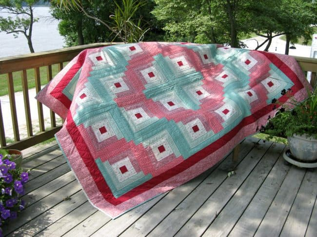 Log Cabin Quilt from 1989
