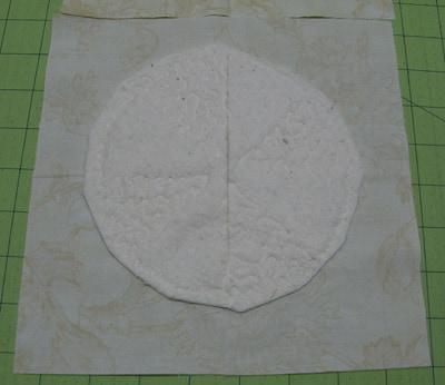 Back Closeup of free motion stitching