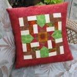 Windblown Ohio Star Pillow