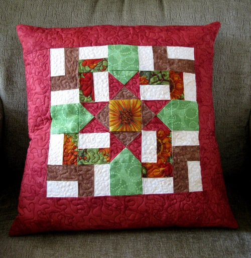 Windblown Ohio Star Pillow tutorial