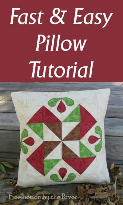 Fast and Easy HST Pillow Tutorial