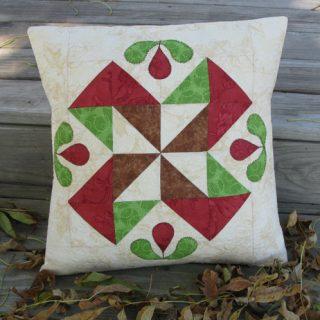 Half Square Triangle Applique Pillow Tutorial