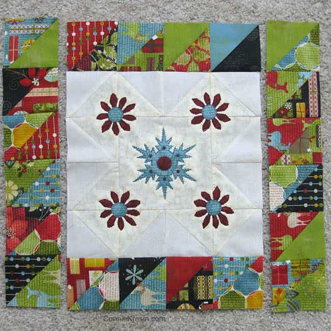 Winter Snowflake Tabletopper piecing