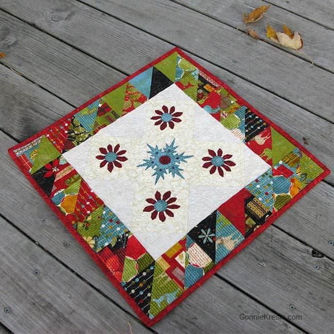 Winter Snowflake Tabletopper tutorial deck