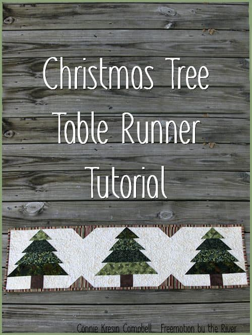Christmas Tree Runner Tutorial Pin
