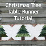 Christmas Table Runner Tutorial at Freemotion by the River