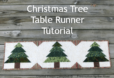Christmas Tree Runner Tutorial Freemotion By The River