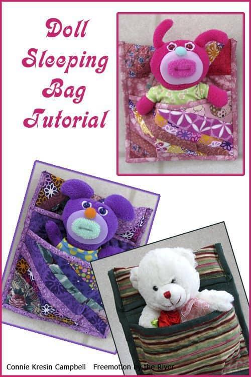 Doll Sleeping Bag Tutorial