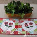 Ruby Flower Table Runners