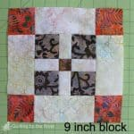 Easy Batik Quilt Block cutting size