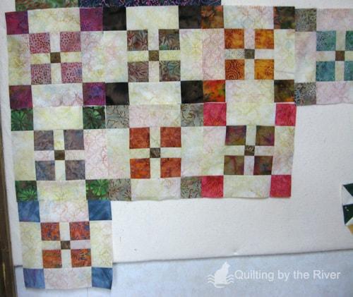 Batik quilt blocks