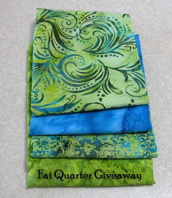 Free motion applique stitiching on a batik table runner