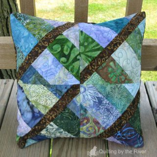 Intertwined batik pillow