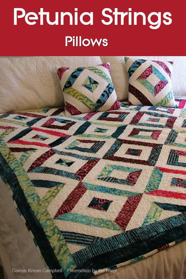 Pillows to match Petunia Strings Quilt