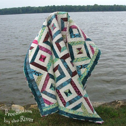 Petunia Strings Quilt by the River