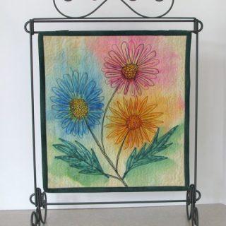 Sharpie Doodle Art quilt