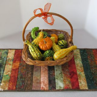 Batik Table Runner Strips