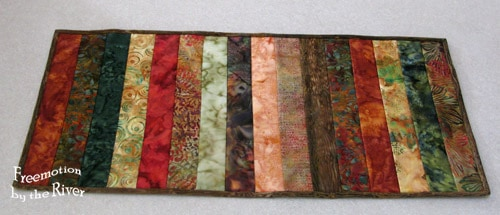 Batik Table Runner Strips fall colors