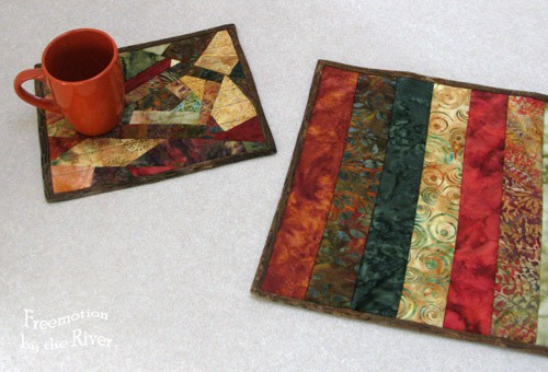Batik Table Runner and mug rug