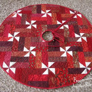 Fast and easy tree skirt tutorial
