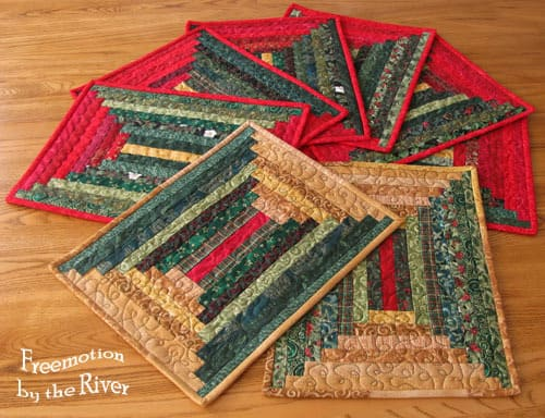 Lots of log cabin placemats