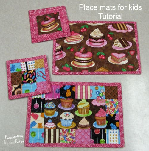 Placemats for Kids tutorial @Freemotion by the River