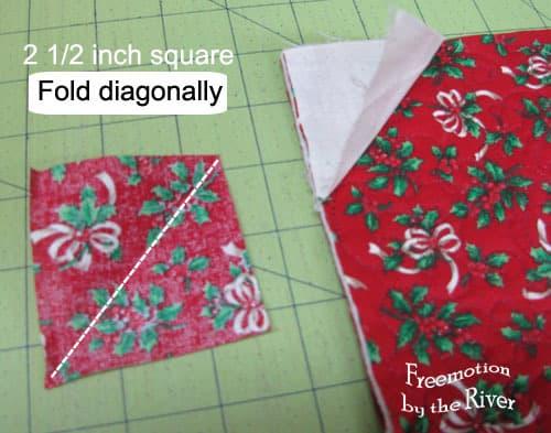 Fold square diagonally