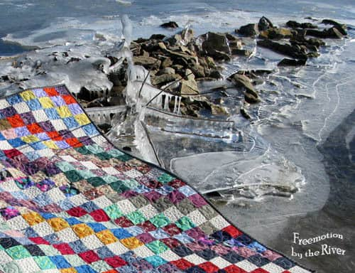 Scrappy Trip Quilt on River Ice