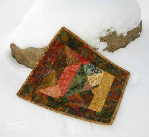 Batiks in the Snow Mug Rug