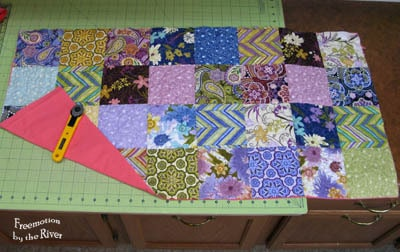 Creating fabric from charm squares
