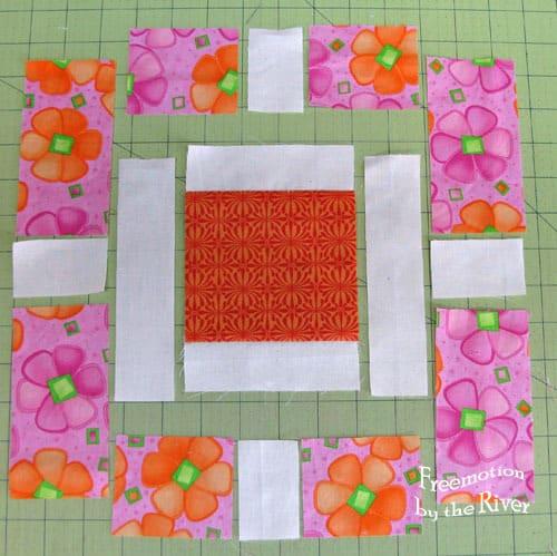 Garden Fence quilt block tutorial step 1