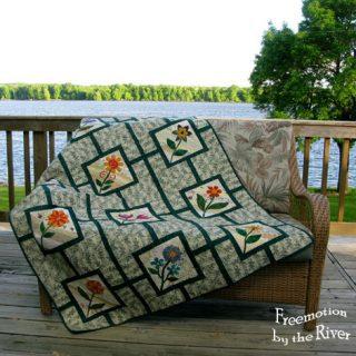 garden maze applique flower quilt