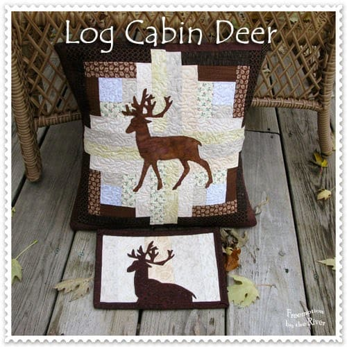 Log Cabin Deer at Freemotion by the River