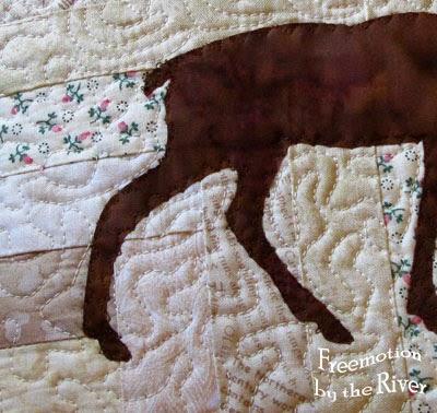 Log Cabin Deer Pillow