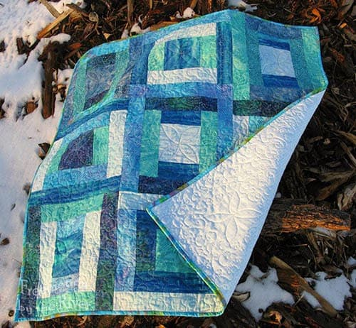 River Squares Quilt Pattern in Blues