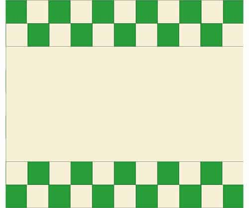 adding checkerboard on Evergreen Tree runner