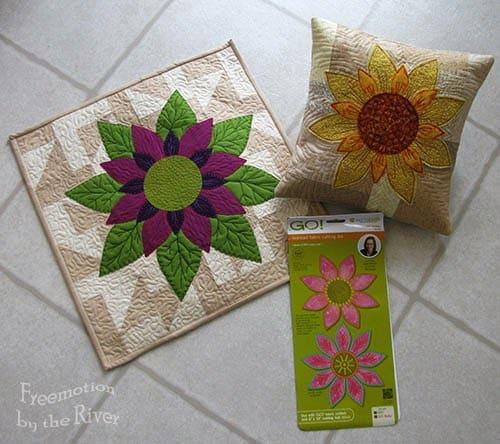 Projects using the Accuquilt die Flower Power at Freemotion by the River