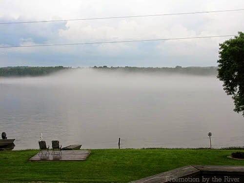 Fog on the Mississippi River