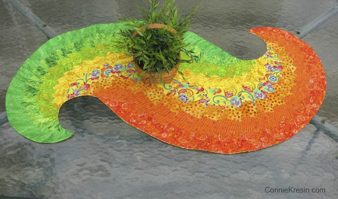 Spicy Spiral Table Runner