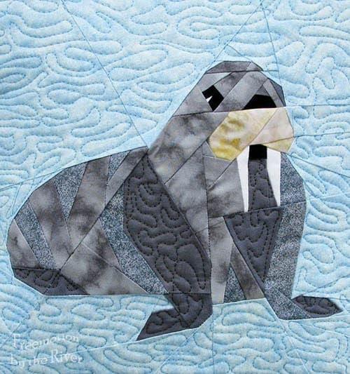 Walrus Paper Pieced Pillow