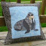 Walrus Paper Pieced Pillow