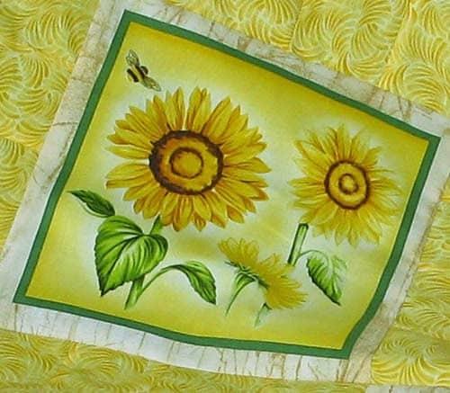 Beautiful sunflower block