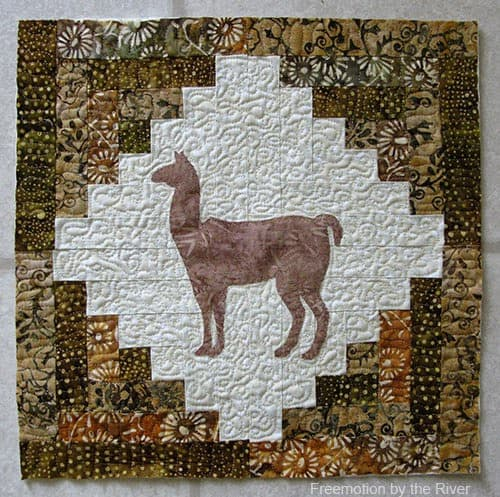 Log Cabin quilt projects using AccuQuilt BOB die
