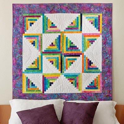Free Log Cabin quilt pattern