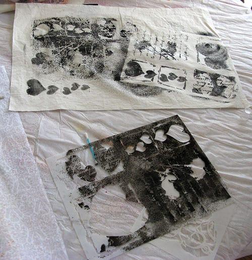 stencil in black