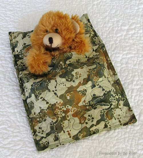 Sleeping Bag tutorial for a stuffed animal