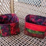 Batik Strippy Catch All Baskets