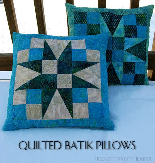Quilted Batik Pillows Tutorial
